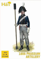 Napoleonic 1806 Prussian Artillery (16 Figures & 4 Cannons) 1/72 Hat