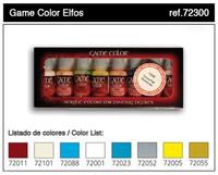 High Elves Game Color Paint Set (8 Colors) 17ml Bottle Acrylic Vallejo Paint