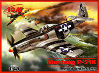 P-51K Mustang USAF Fighter 1/48 ICM Models