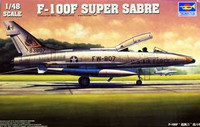F-100F Super Sabre Fighter  1/48 Trumpeter