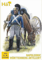 Napoleonic Wurttemberg Artillery (16 Figures & 4 Cannons) 1/72 Hat