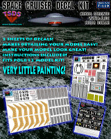 Forbidden Planet C-57D Space Cruiser Decal Set for PLL TSDS