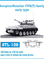 Scorpion/Scimitar CV (T) Family Early Type Tank Track Link Set (180 Links) 1/35 Fruilmodel