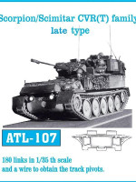 Scorpion/Scimitar CVR(T) Family Late Type Tank Track Link Set (180 Links) 1/35 Fruilmodel