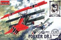 Fokker Dr.I Triplane 1/72 Roden