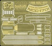 USS Enterprise Refit Photo-Etched Detail Set for PLL 1-1000 Paragrafix