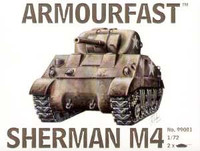Sherman M4 Medium Tank (2) 1-72 Armour Fast