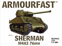 Sherman M4A3 Tank w/76mm Gun (2) 1-72 Armour Fast
