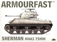 Sherman M4A3 Tank w/75mm Gun (2) 1-76 Armour Fast