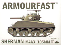 Sherman M4A3 Tank w/105mm Gun (2) 1-72 Armour Fast