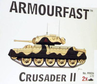 Crusader II Tank (2) 1-72 Armour Fast