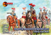 Imperial Mounted Arquebusiers (12 W/12 Horses) 1/72 Mars Figures