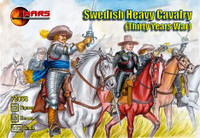 Thirty Years War Swedish Heavy Cavalry (12 W/12 Horses) 1/72 Mars Figures