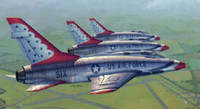 F-100D Super Sabre Thunderbirds USAF Aircraft 1/48 Trumpeter