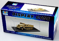 "1/43 Small & Large Military Showcase (14.25""L x 7.25""W x 4.75""H) Black Base Trumpeter"