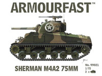 Sherman M4A2 75mm Tank (2) 1-72 Armour Fast
