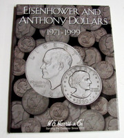 Eisenhower & Anthony Dollars 1971-1999 Cardboard Coin Folder