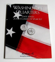 2004 Complete Year Washington State Quarters Cardboard Coin Folder