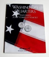 2007 Complete Year Washington State Quarters Cardboard Coin Folder