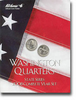 2008 Complete Year Washington State Quarters Cardboard Coin Folder