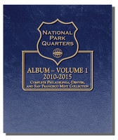 National Park Quarters 2010-2015 Complete Philadelphia, Denver & San Francisco Mint Coin Album Vol.1