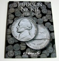 Jefferson Nickel 1938-1961 Cardboard Coin Folder