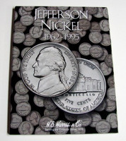 Jefferson Nickel 1962-1995 Cardboard Coin Folder