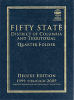Fifty State Commemorative Quarter 1999-2009 Deluxe Coin Folder