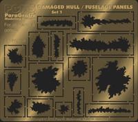 Various Sizes Damaged Hull/Fuselage Panels Photo-Etch Detail Set (15 different) Paragrafix