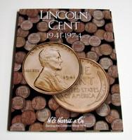 Lincoln Cent 1941-1974 Cardboard Coin Folder
