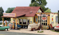 Sonny's Super Service Gas Station w/Detached Garage Building Kit N Scale Woodland Scenics
