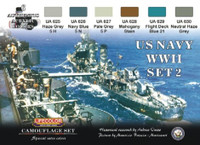 Camouflage US Navy WWII Acrylic Set #2 (6 22ml Bottles) Life Color