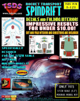 Land of the Giants Spindrift Decal Set & Color Fold-Up Interior for MOE 1/128 TSDS