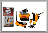 Garage Accessories: Compressor, Floor Jack, Jumper Cables, Battery, Welding Tanks, Extinguisher 1/24 Phoenix Toys