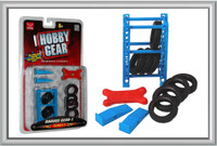 Garage Accessories: Tire Rack, Tires, Creeper, Ramps 1/24 Phoenix Toys