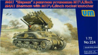"M4A1 Sherman Tank with M17/4.5"" Rocket Launcher 1/72 UniModels"