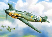 Messerschmitt Bf-109F-2 German WWII Fighter (Snap Kit) 1/144 Zvezda