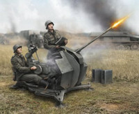 German WWII FlaK-38 20mm Anti-Aircraft Gun with Crew (2) (Snap Kit) 1/72 Zvezda