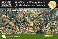 15mm Late WWII German Infantry 1943-45 (130) Plastic Soldier