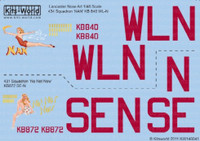 Avro Lancaster Nan, No Not Now 1/48 Warbird Decals