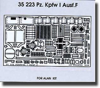 PzKpfw I Ausf F for ALN 1/35 Eduard