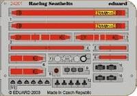 Racing Car Seatbelts- Sabelt 6-Points Red 1/24 Eduard