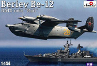 Beriev Be-12 NATO Code Mail Soviet Anti-Submarine/Martime Partol Aircraft 1/144 A-Model