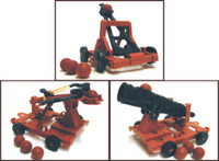 Medieval Armor Set (Catapult, Crossbow, Cannon) (Bagged) 1/32 Playsets