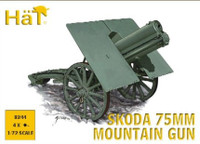 WWI Skoda 75mm Mountain Gun (4) 1/72 Hat