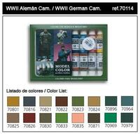 WWII German Camouflage Model Color Paint Set 17ml Bottle Acrylic  (16 Colors)