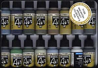 WWII British Aircraft RAF/FAA Model Air Color Paint Set 17ml Bottle Acrylic (16 Colors)