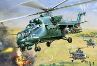 Mil Mi-35 Hind E Russian Attack Helicopter 1/72 Zvezda