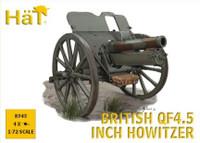 WWI British QF4.5 Inch Howitzer (4) 1/72 Hat