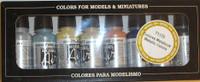 Metallics Model Air Color Paint Set (8 Colors) 17ml Bottle Acrylic